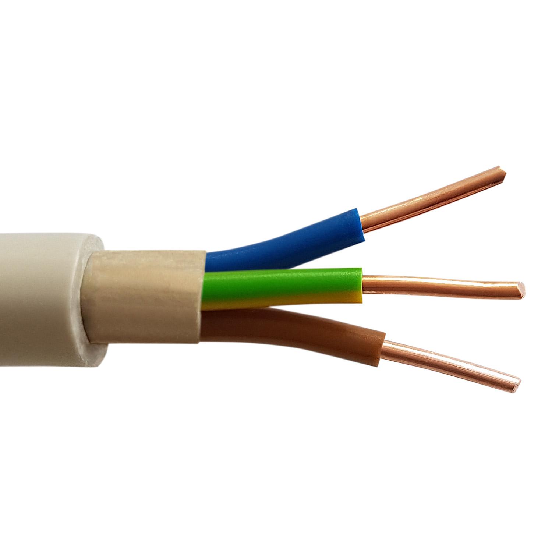 Hervorragend 50m NYM-J 3x1,5 mm² Mantelleitung Elektro Strom Kabel OFC MADE IN  ZU57