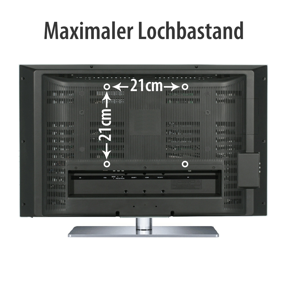 slim tv wandhalterung f r samsung bis 42 andere tv befestigung max 200x200mm ebay. Black Bedroom Furniture Sets. Home Design Ideas