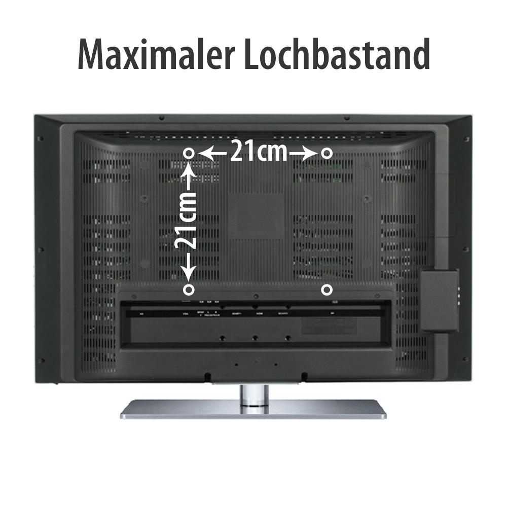 slim tv wandhalterung f r samsung bis 42 andere tv befestigung max 200x200mm ebay. Black Bedroom Furniture Sets. Home Design Ideas