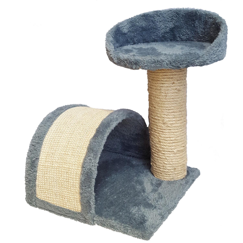 katzenbaum natur sisal pl sch grau h he 43cm kratzbaum. Black Bedroom Furniture Sets. Home Design Ideas