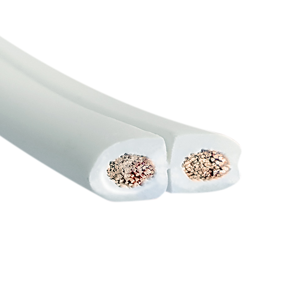 30m Lautsprecherkabel 2x2,5mm² CCA flach weiß Metermarkierung   eBay