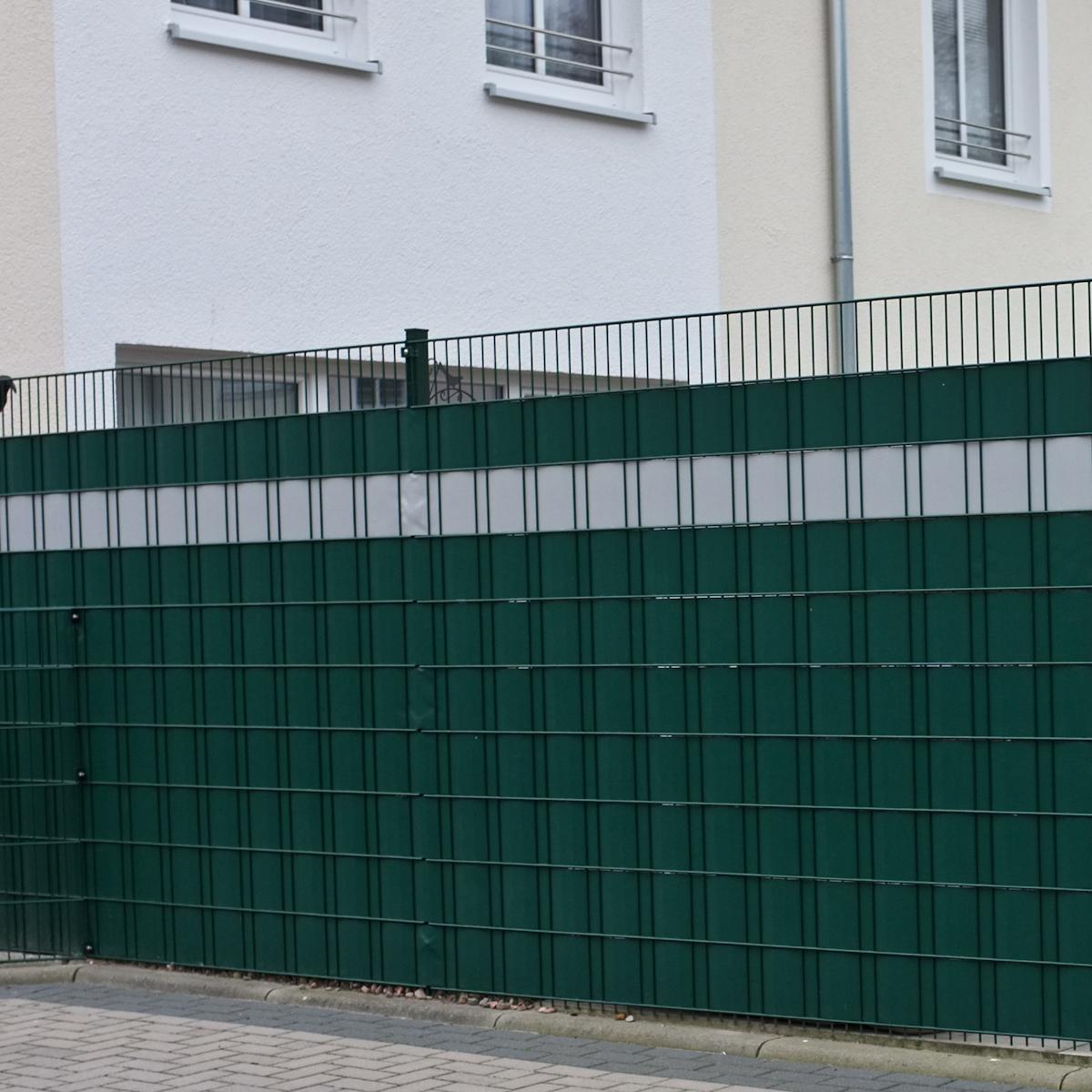 PVC Sichtschutz Folie Stabmatten Windschutz Grün Grau Anthrazit
