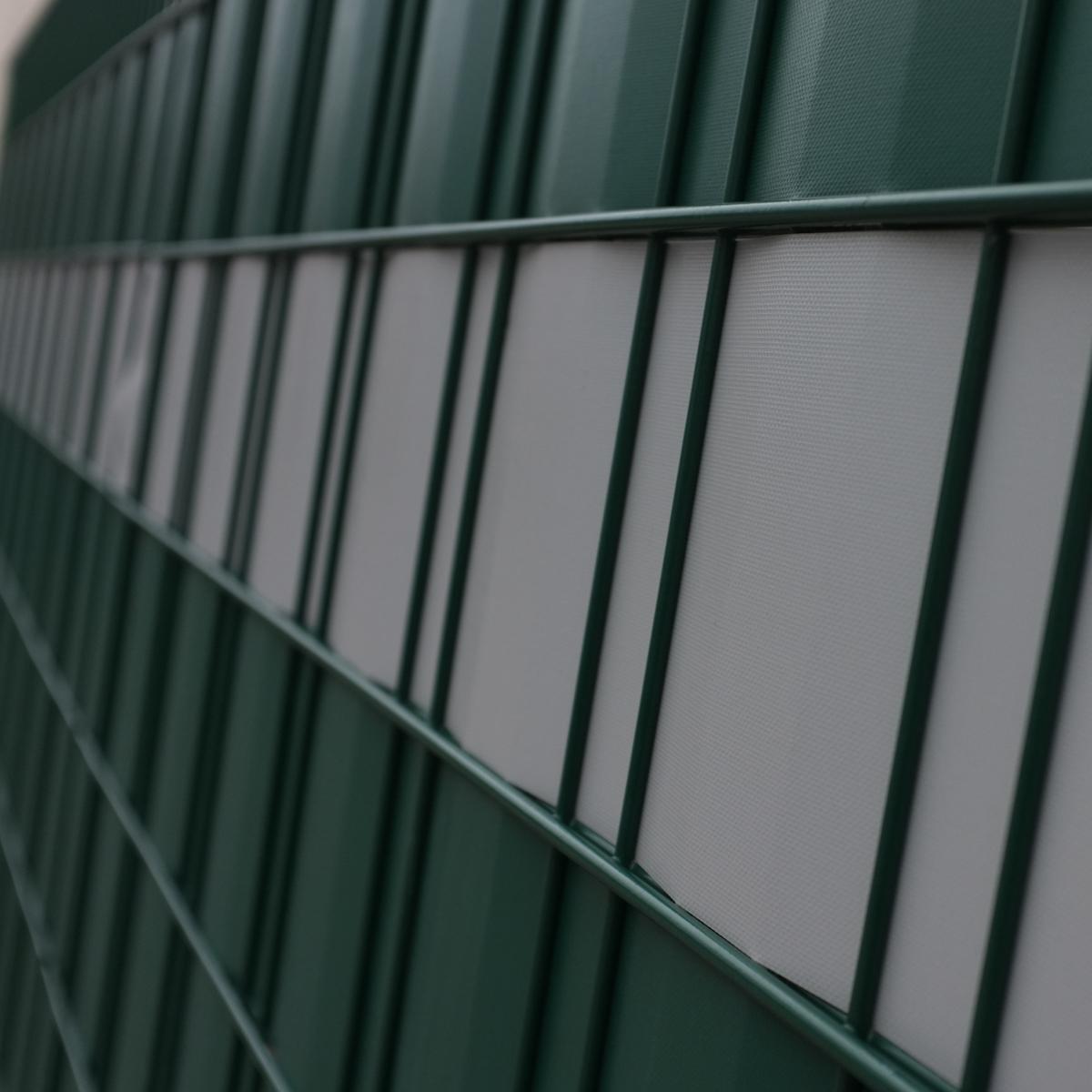 pvc sichtschutz folie stabmatten windschutz gr n grau. Black Bedroom Furniture Sets. Home Design Ideas